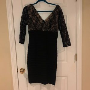 WORN ONCE! Gorgeous Adrianna Papell lace dress